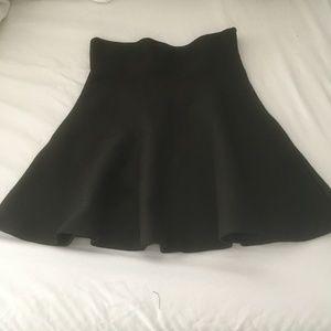 Deep Olive High Waisted A-line short skirt - NWT